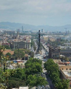 View from above Barcelona - Adventures with Shelby