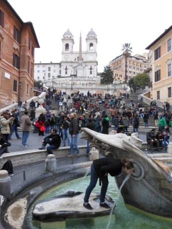 Fontana della Barcaccia | Adventures with Shelby