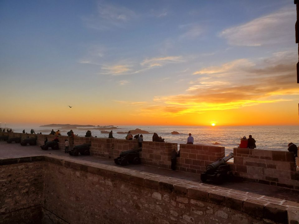 Sunset at Skala, Essaouira | Adventures with Shelby