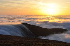 Peak at Sunset Photo, Guided Walks in Wales with Adventures With Will
