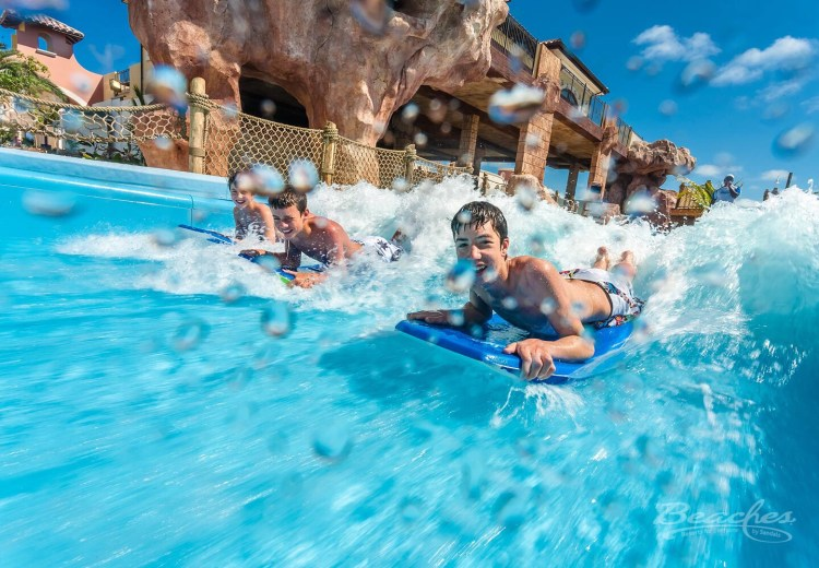 Beaches Turks and Caicos Surf Stream, ultimate in family-friendly all inclusive resorts.