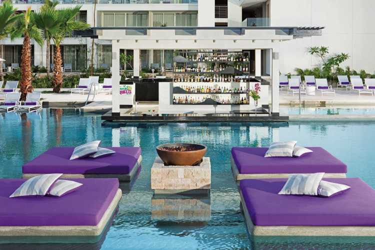 Adults-only pool fun at the all inclusive Breathless Riviera Cancun resort in Mexico