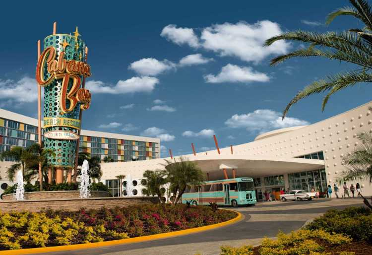 The fun and retro Cabana Bay hotel at Universal Studios Orlando