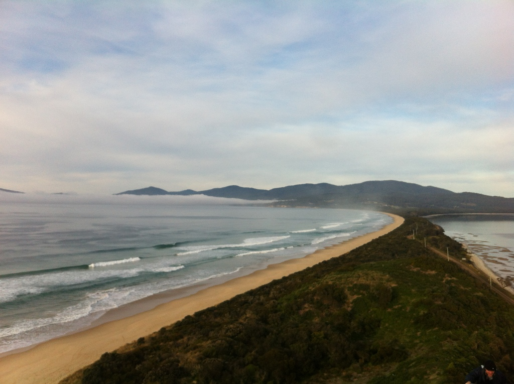 The view from The Neck Lookout on Bruny Island