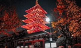 Asakusa - Tokio Japón. La Puerta del Trueno, templos y parques temáticos tradicionales