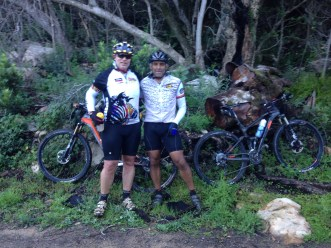 Riding out Jonkershoek with Pieter. Great day out and a soldi 5hrs on the bike