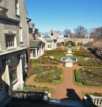 View of the gardens at the George Eastman Museum. The Museum is located on East Avenue and is a National Historic Landmark. It is very inexpensive to visit and I highly recommend going if you're in Rochester!