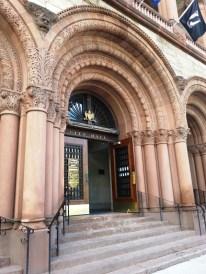 The main entrance to City Hall in Albany, NY.