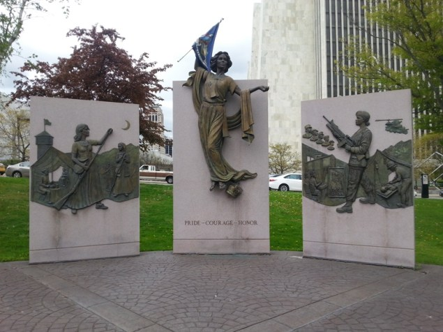 This monument is located next to the State Museum.