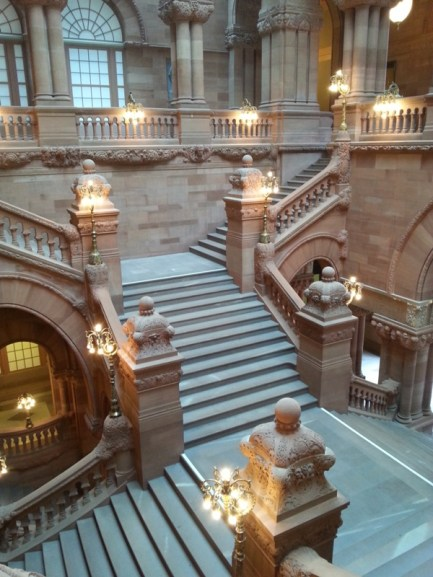 "View of the Great Western Staircase a.k.a the ""Million Dollar Staircase."""