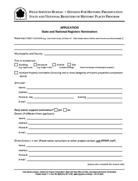 This is one of the forms that need to be filled out for the nomination process.