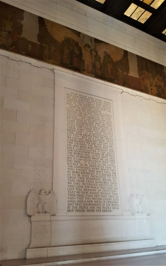 This is the Gettysburg Address located on the south wall of the Lincoln Memorial