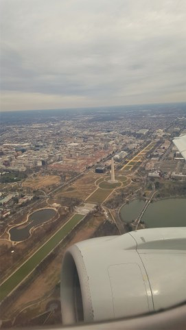This is an image I took on my flight back home. You can see a majority of the National Mall in this photo.