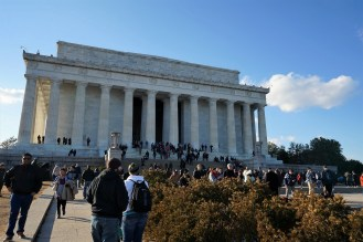 The Lincoln Memorial was designed by Henry Bacon and constructed from 1914-1922.