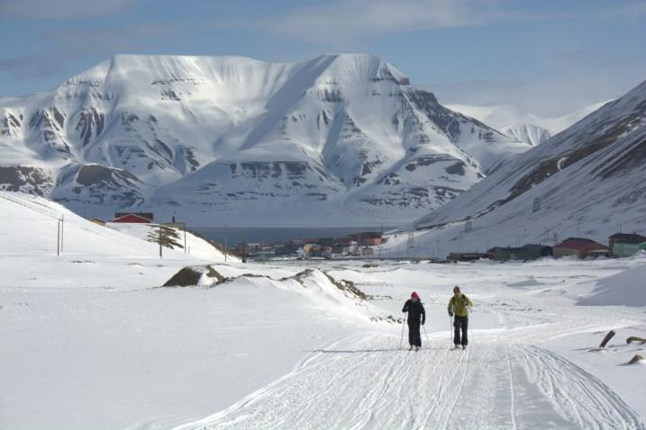 Hiking out of Longyearbyen