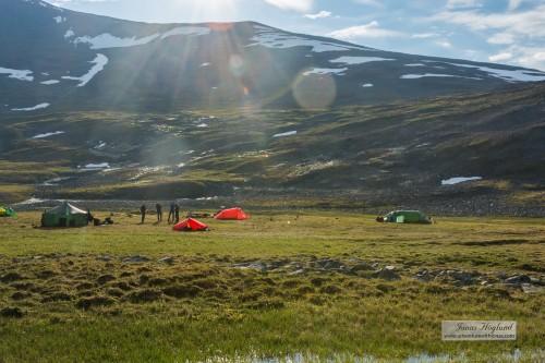 Första dagens tältläger