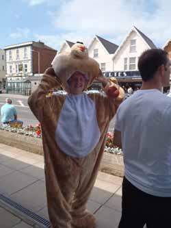 Roo in bear suit