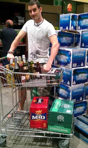 Trolley full of booze