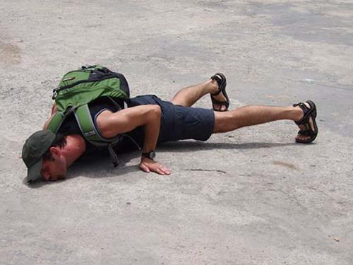 Me kissing the ground