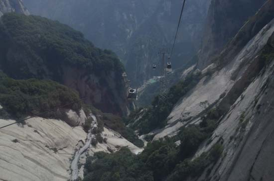 Cable Car view Huashan