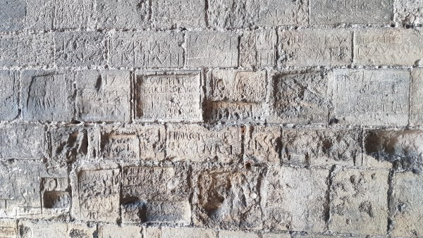 Graffiti on the walls of the Great Tower.
