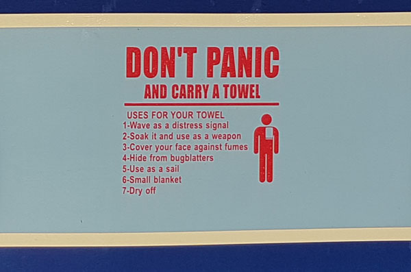 Towel Sign