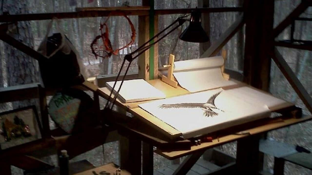 forest art desk