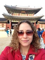 Gyeongbokgung Palace - first selfie in Korea.