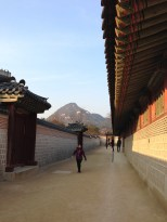 Gyeongbokgung Palace - the mountain is always looming.