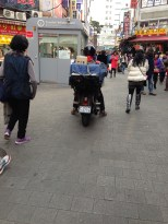 Namdaemun Market - watch out or you WILL get run over by a motorcycle. They just drive right through the market!