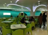 Food court at Lotte Fitin. Real funky.