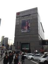 Shinsegae Department Store. Sorry the lights weren't lit :(