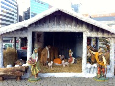 Nativity scene at Myeong-dong Cathedral.