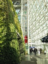Vertical garden at Seoul City Hall. Ascends to the 7th floor.