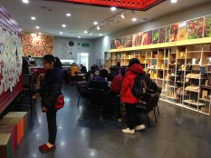 Fair trade cafe and shop.