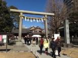 Entering the Asakusa Shrine.