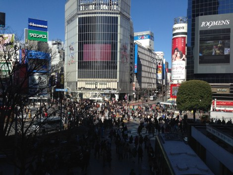 View of Shibuya Crossing from Shibuya Station.