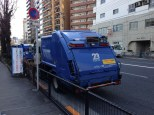 Japanese garbage truck. Even their garbage trucks are clean.