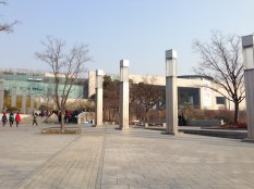 Walking up to the National Museum of Korea - it's a large complex.