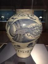 White Porcelain Jar with Phoenix Design in Underglaze Cobalt Blue - Joseon Dynasty