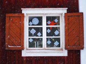 Joulukorttimaisemia Oulun Pikisaaresta