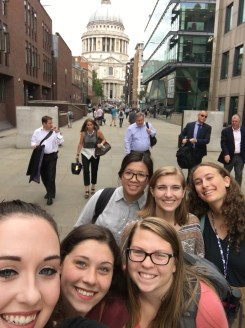 Group selfie w/ St. Paul's Cathedral