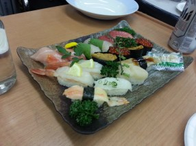 Sushi at my birthday
