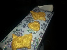 Gold Cookies from my lovely best friend