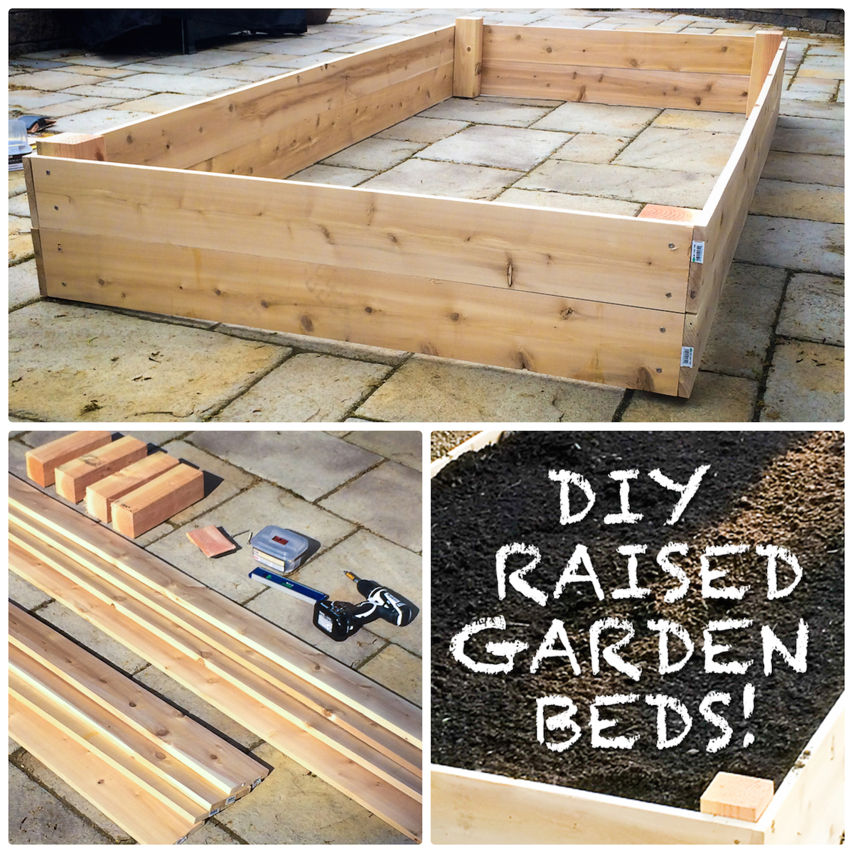 Do It Yourself Raised Garden Beds!