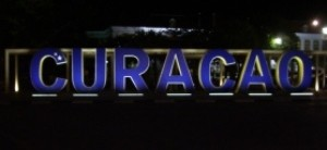Curacao sign at night