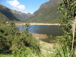 Mountain lake near Cuenca Ecuador