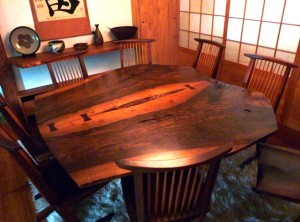 Nakishima Reception House - Dining Room Table