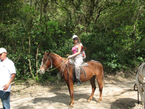 Riding in a Costa Rica Park