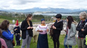 Ecuador's Andean Highlands - Quechua People - traditions; San Pablo Lake